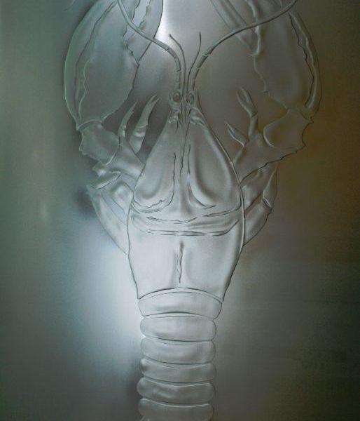embossed glass